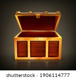 Treasure Chest  Empty Wooden...