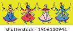krishna and gopika playing... | Shutterstock .eps vector #1906130941