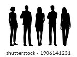 vector silhouettes of  men and... | Shutterstock .eps vector #1906141231