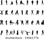 silhouettes. | Shutterstock . vector #19061776