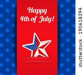 independence day card with star ... | Shutterstock . vector #190618394