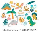 collection of cute baby... | Shutterstock .eps vector #1906195537