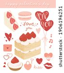 cute valentine's day elements... | Shutterstock .eps vector #1906196251