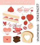 cute valentine's day elements... | Shutterstock .eps vector #1906196257
