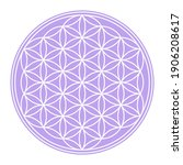 White Flower Of Life On A...