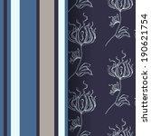 damask scrapbook paper  | Shutterstock .eps vector #190621754