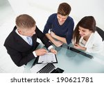 high angle view of financial... | Shutterstock . vector #190621781