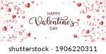 happy valentine's day banner.... | Shutterstock .eps vector #1906220311