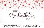 happy valentine's day banner.... | Shutterstock .eps vector #1906220317