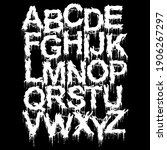 metal music style font.drippy...   Shutterstock .eps vector #1906267297