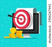 money marketing target goal as... | Shutterstock .eps vector #1906267441