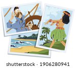 sea wolf with pipe. captain of... | Shutterstock .eps vector #1906280941