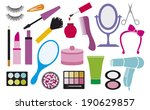 make up collection  cosmetics... | Shutterstock . vector #190629857