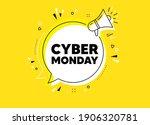 cyber monday sale. megaphone...   Shutterstock .eps vector #1906320781