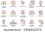 vector set of linear icons... | Shutterstock .eps vector #1906322374