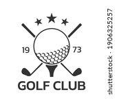 golf club logo  badge or icon...   Shutterstock .eps vector #1906325257