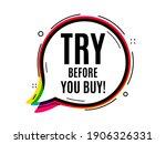 try before you buy. speech...   Shutterstock .eps vector #1906326331