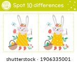 easter find differences game... | Shutterstock .eps vector #1906335001
