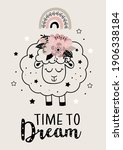 magic poster with cute floral... | Shutterstock .eps vector #1906338184