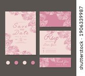 wedding invitation  save the... | Shutterstock .eps vector #1906339987