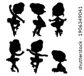 silhouettes of beautiful...   Shutterstock .eps vector #1906349041