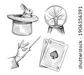 Hand Drawn Sketch Set Of...