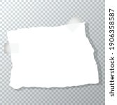 torn piece of crumpled paper.... | Shutterstock .eps vector #1906358587