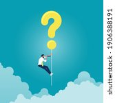 businessman hanging question...   Shutterstock .eps vector #1906388191
