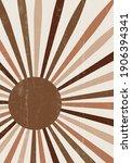 abstract sun print boho...   Shutterstock .eps vector #1906394341