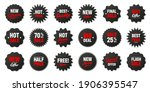 realistic black price tags... | Shutterstock .eps vector #1906395547