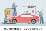 car service station.... | Shutterstock .eps vector #1906404874
