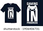 gaming in progress  game slogan ...   Shutterstock .eps vector #1906406731