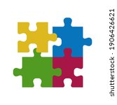 puzzle compatible icon. jigsaw... | Shutterstock .eps vector #1906426621