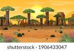 african forest landscape at... | Shutterstock .eps vector #1906433047
