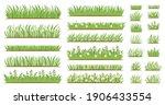 green grass flat icon set.... | Shutterstock .eps vector #1906433554