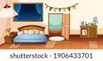 bedroom interior with furniture ... | Shutterstock .eps vector #1906433701