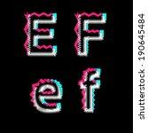 abstract vector alphabet | Shutterstock .eps vector #190645484