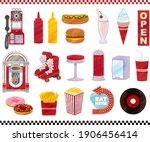 american diner watercolor style ...   Shutterstock .eps vector #1906456414