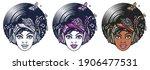 funk music girl. african woman... | Shutterstock .eps vector #1906477531