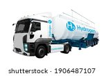Truck On Hydrogen Fuel With H2...