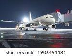 The Passenger Aircraft Stands...