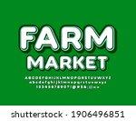 vector trendy logo farm market...   Shutterstock .eps vector #1906496851