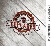bakery retro label on the old... | Shutterstock .eps vector #190653824