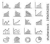 graphs and charts thin line... | Shutterstock .eps vector #1906542001