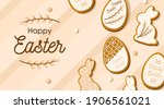 Happy Easter Greeting Card With ...