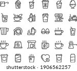 food line icon set   hot cup ...   Shutterstock .eps vector #1906562257