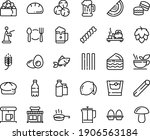 food line icon set   plate... | Shutterstock .eps vector #1906563184