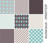 Seamless Patterns Set   Tartan...