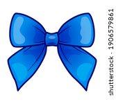 blue bow cartoon hand drawn...   Shutterstock .eps vector #1906579861