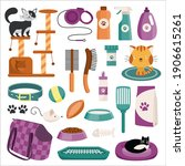 set of cat characters and... | Shutterstock .eps vector #1906615261